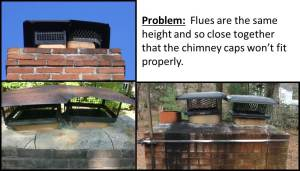 Flues too close together